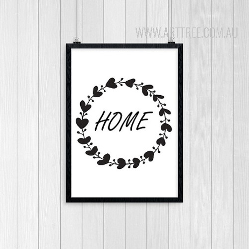 Abstract Minimalist Black and White Decorated Home Print Art