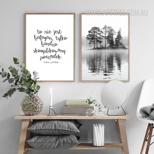 To Nie Jest Words Deep Forest Design Canvas Prints