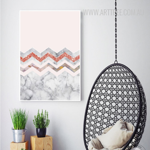 Abstract Nordic Style Waves Canvas Wall Art Decor