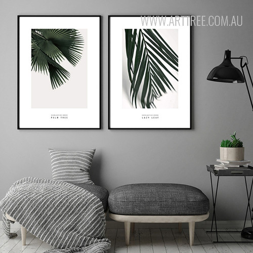 Palm Tree Leaves Botanical Canvas Prints