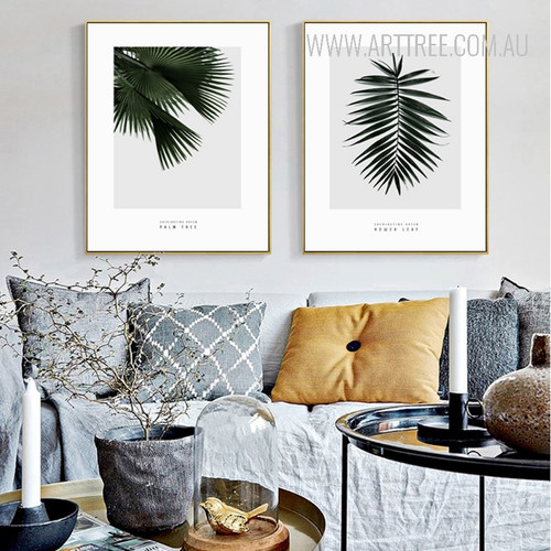 Palm Tree Leaves Botanical Canvas Wall Art