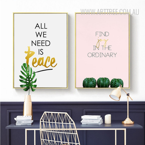 All We Need Is Peace Find Joy in the Ordinary Quote Canvas Prints