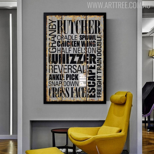 Butcher Granby Sprawl Cradle Chicken Wing Typography Art Wall Print