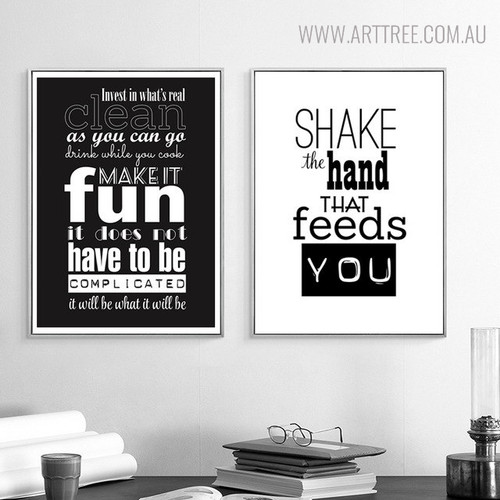 Shake the Hand Quotes Wall Artwork