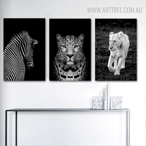 Woodland Animals Picture Print for Room Decoration