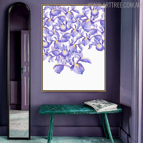 Iris Posy Floral Painting Print for Wall Decor