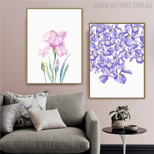 Elegant Iris Floral Artwork