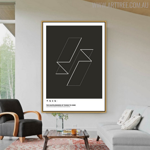 Model Quotes Abstract Geometric Artwork for Living Room Decor