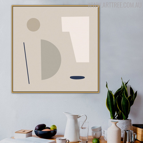 Semblance Abstract Modern Geometric Painting Print for Dining Room Decoration