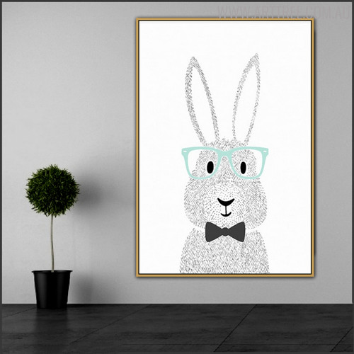 Rabbit Spex Animated Animal Wall Art Print