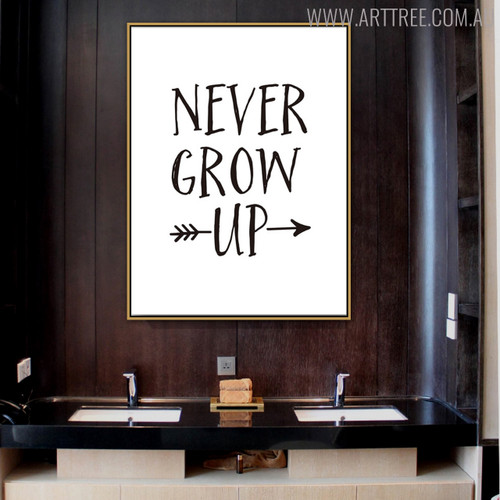 Grow Quotes Scandinavian Nordic Painting Print for Lounge Room Decor