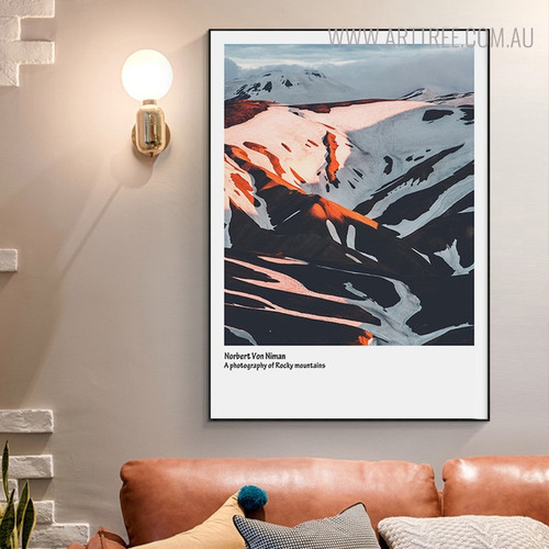 Snow Hills Nordic Landscape Painting Print for Wall Decoration
