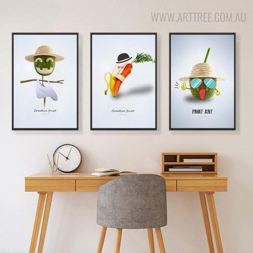 Dancer Banana Abstract Creative Nordic Painting Print for Study Room Wall Hanging