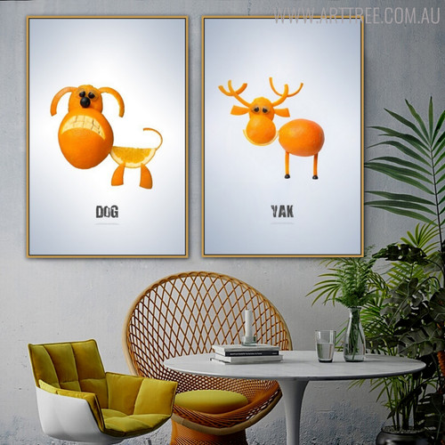 Yak Dog Abstract Creative Painting Print for Living Room Decor