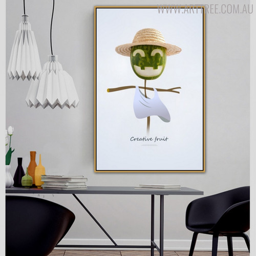 Watermelon Scarecrow Abstract Creative Painting Print for Dining Room Wall Disposition
