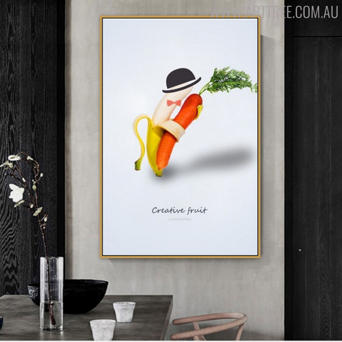 Abstract Dancer Creative Painting Canvas Print for Dining Room Wall Getup