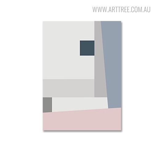 Hued Shade Abstract Geometric Scandinavian Wall Art Design Print