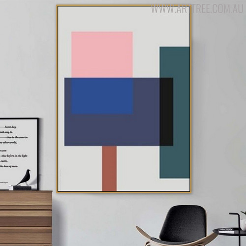 Dapple Shades Abstract Geometric Scandinavian Wall Art Print for Living Room Equipment