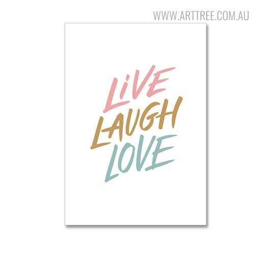 Live Modern Quotes Wall Decor