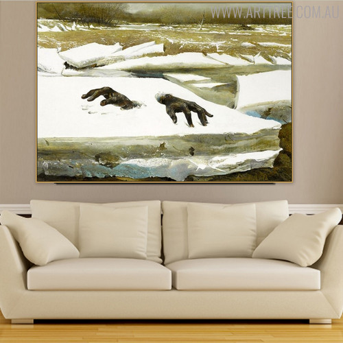 Breakup Famous Artists Still Life Landscape Scandinavian Picture Print for Living Room Ornament