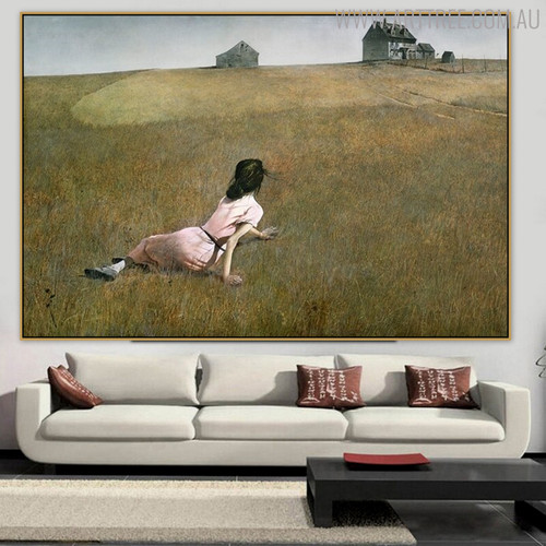 Christina's World Famous Artists Still Life Landscape Scandinavian Painting Print for Living Room Wall Ornament