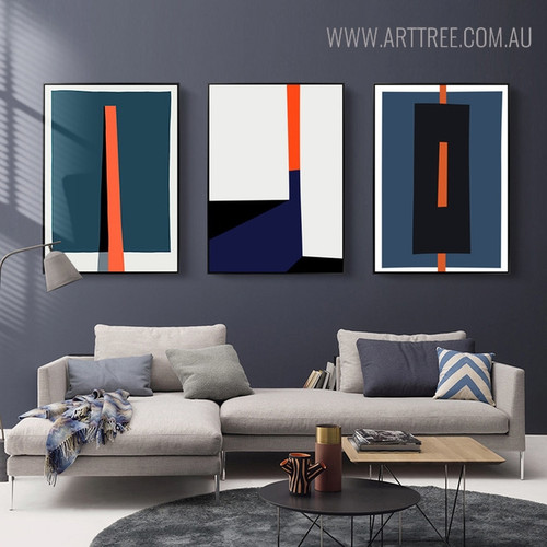 Bold Stick Modern Abstract Geometric Painting Print for Living Room Ornament