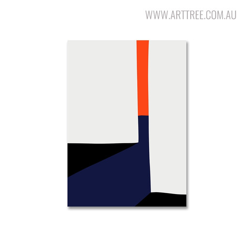 Colorful Figures Modern Abstract Geometric Painting Canvas Print