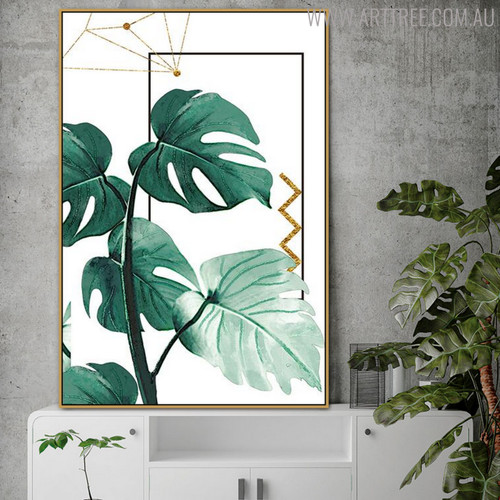 Monstera Botanical Modern Nordic Painting Print for Living Room Wall Ornament
