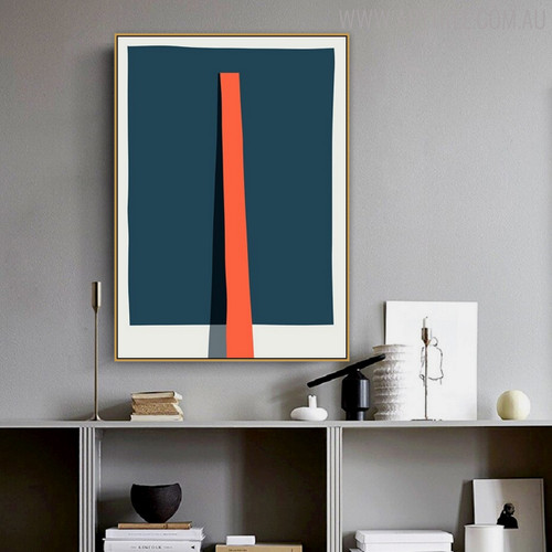 Stick Reflection Abstract Geometric Modern Painting Canvas Print for Study Room Wall Assortment