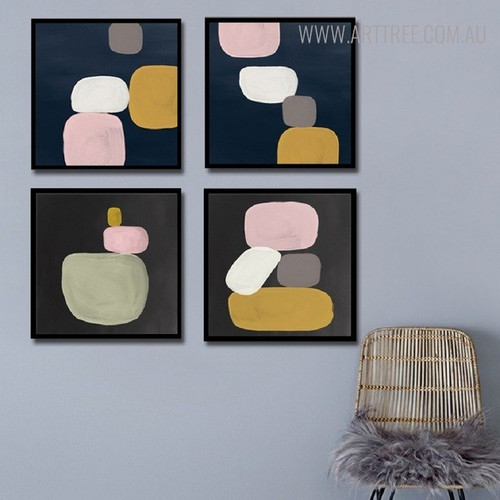 Silica's Vintage Abstract Still Life Painting Canvas Print for Living Room Wall Ornament