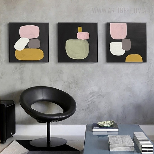 Hail's Vintage Abstract Still Life Painting Canvas Print for Study Room Wall Decor