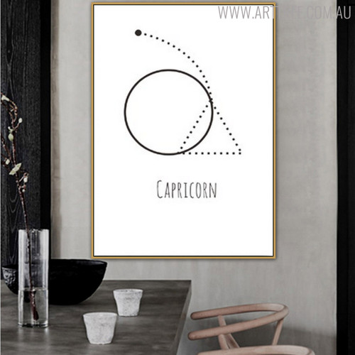 Capricorn Abstract Geometric Minimalist Painting Print for Dining Room Wall Outfit