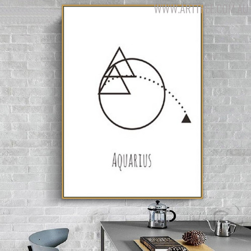 Aquarius Abstract Geometric Minimalist Painting Print for Dining Room Wall Outfit