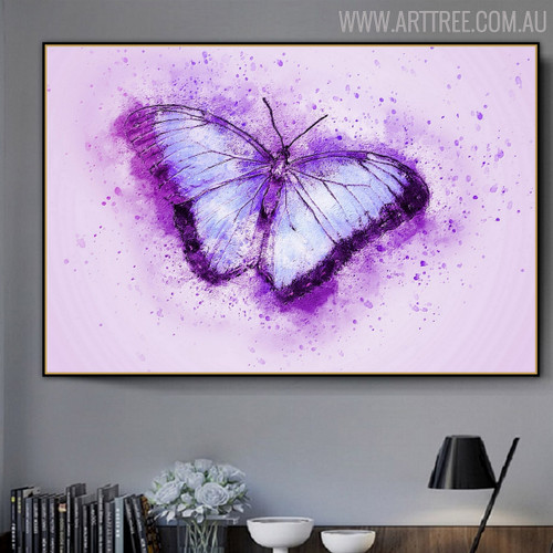 Flying Butterfly Animal Handpainted Canvas for Lounge Room Wall Decor