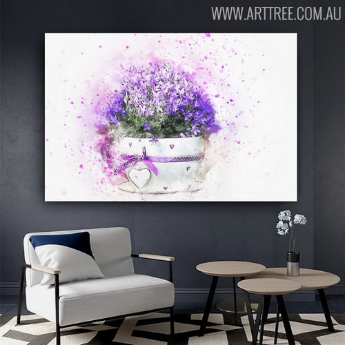 Perennial Pot Floral Handmade Canvas Artwork for Room Wall Outfit