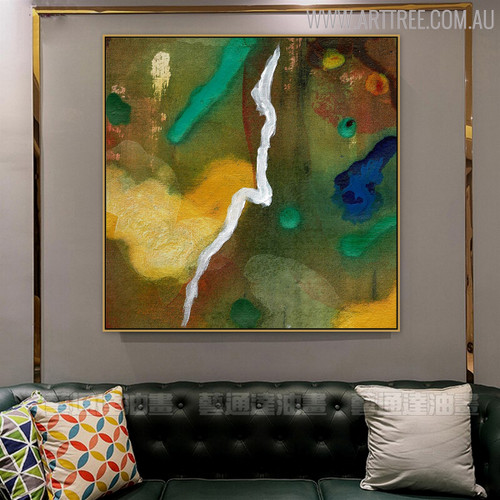 Hued Texture Abstract Handpainted Canvas for Living Room Wall Getup