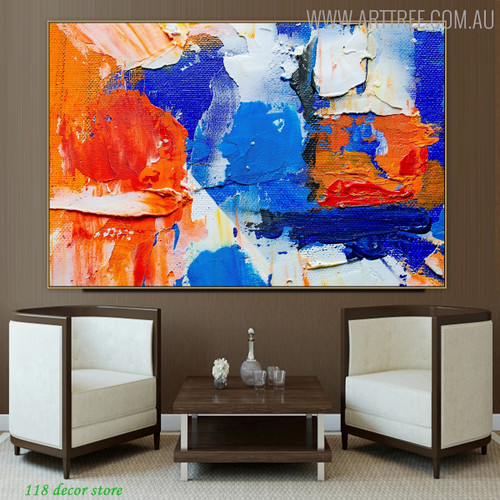 Multicolor Effects Abstract Acrylic Painting for Room Wall Getup