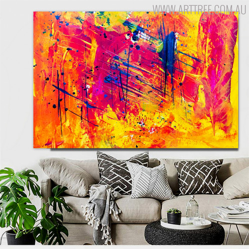 Varicolored Abstract Handmade Canvas Artwork for Lounge Room Wall Decoration
