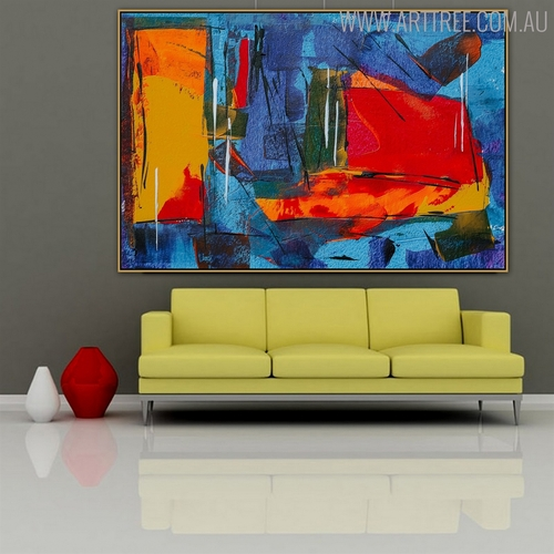 Dark Dapple Abstract Canvas Portraiture for Lounge Room Wall Outfit