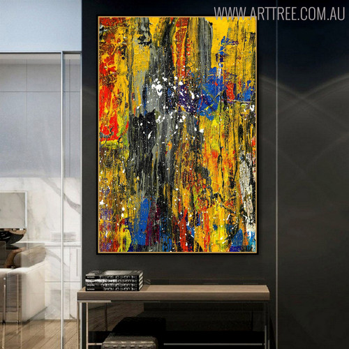 Motley Portrayal Abstract Oil Painting for Lounge Room Wall Garnish