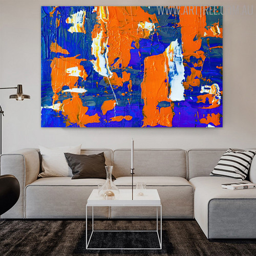 Wonderful Shades Abstract Acrylic Painting for Living Room Wall Trimming
