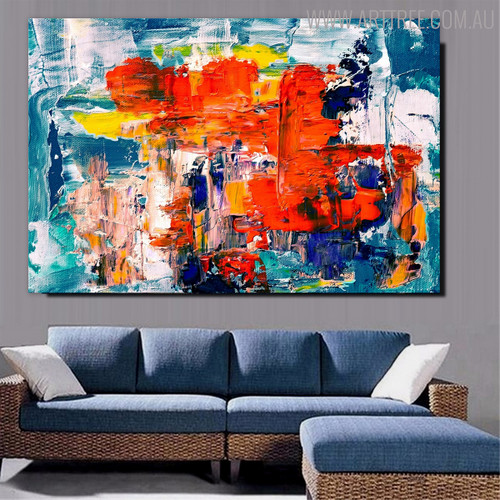 Varicoloured Resemblance Abstract Handmade Oil Painting for Living Room Wall Ornament