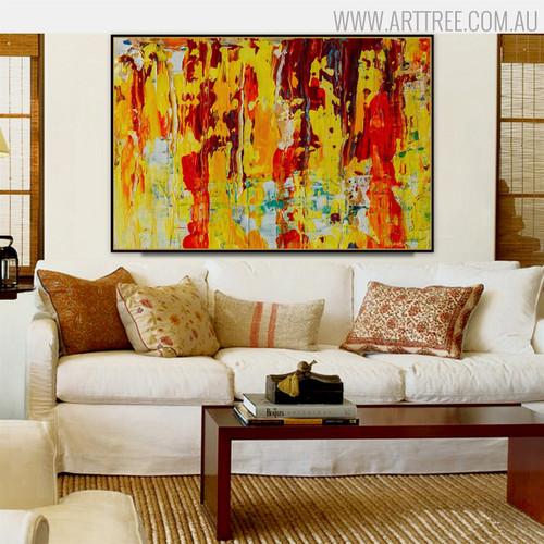 Calico Effigy Abstract Handmade Canvas Portraiture for Room Wall Decor