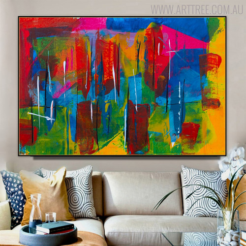 Motley Abstract Canvas Artwork for Room Wall Embellishment