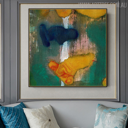 Multicolored Texture Abstract Canvas Artwork for Living Room Wall Getup