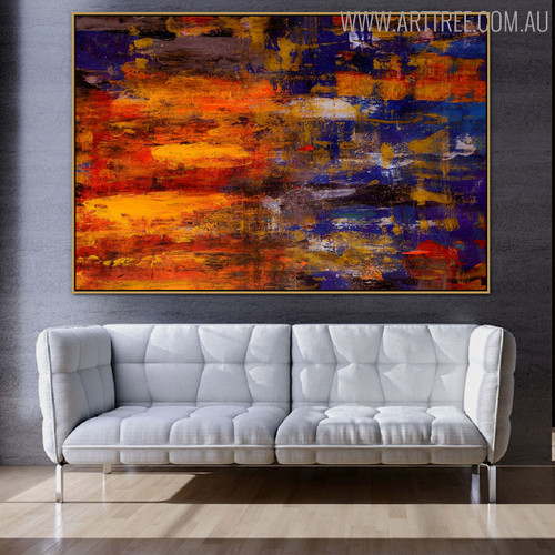 Thick Color Abstract Texture Canvas Artwork for Room Wall Getup