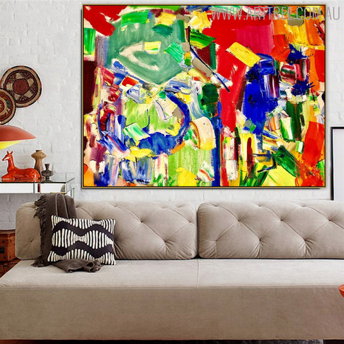Variegated Art Abstract Texture Oil Painting for Interior Wall Getup
