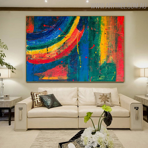 Calico Abstract Texture Acrylic Painting for Room Wall Outfit