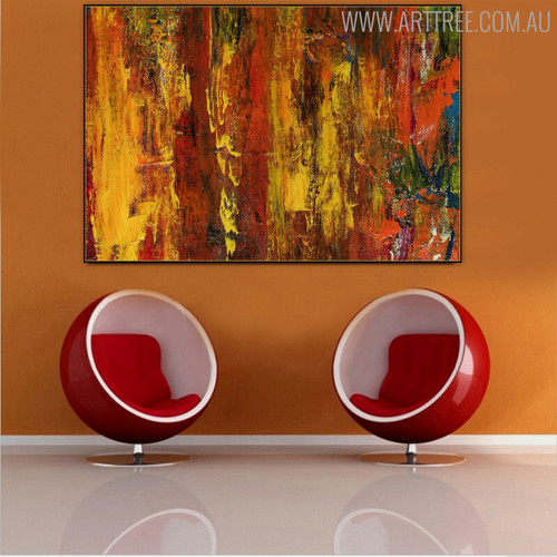 Florid Shade Abstract Texture Oil Painting for Room Wall Adornment