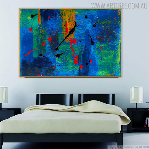 Deep Colored Abstract Modern Texture Acrylic Artwork for Bedroom Wall Disposition